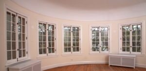 Living room casement windows