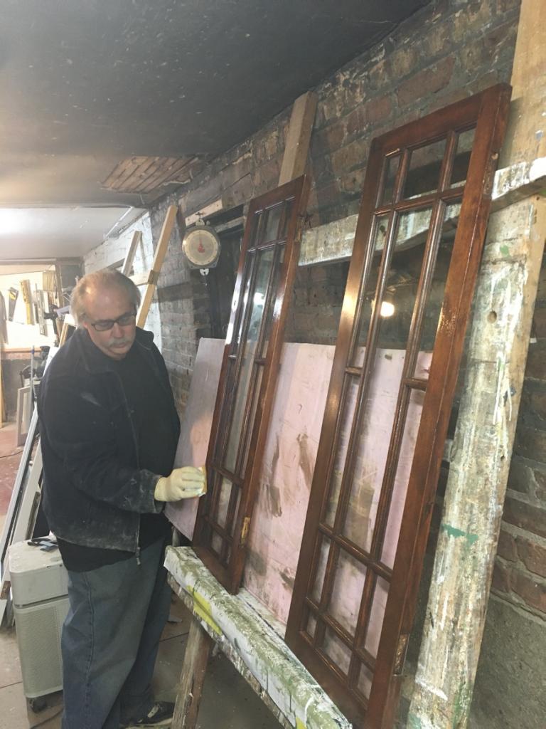 Jeff finishing windows